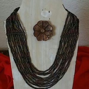 Beaded Multiple Loop Necklace